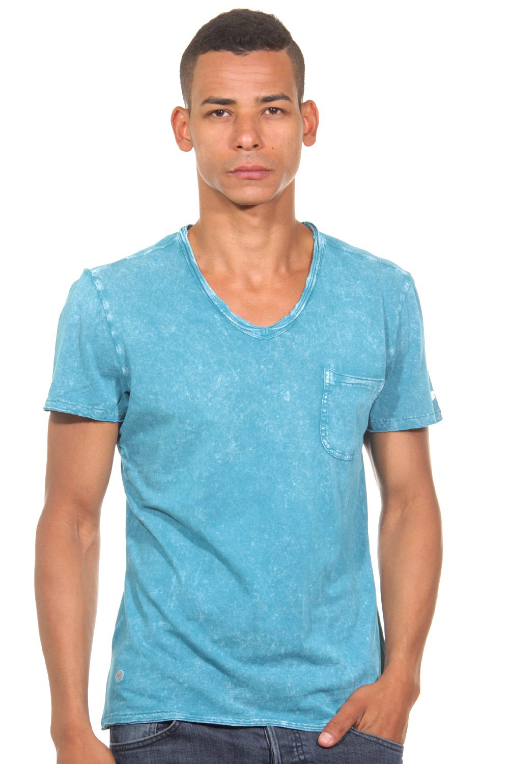 TOM TAILOR POLO TEAM T-Shirt V-Ausschnitt slim fit auf oboy.de