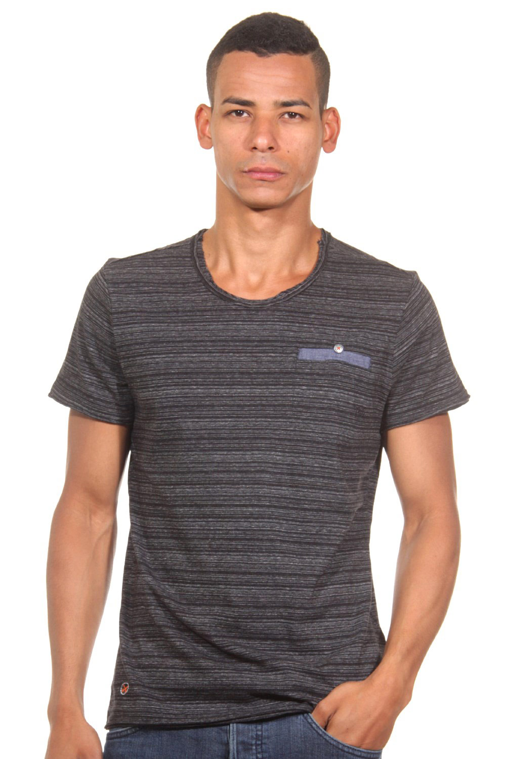 TOM TAILOR POLO TEAM T-Shirt Rundhals slim fit auf oboy.de