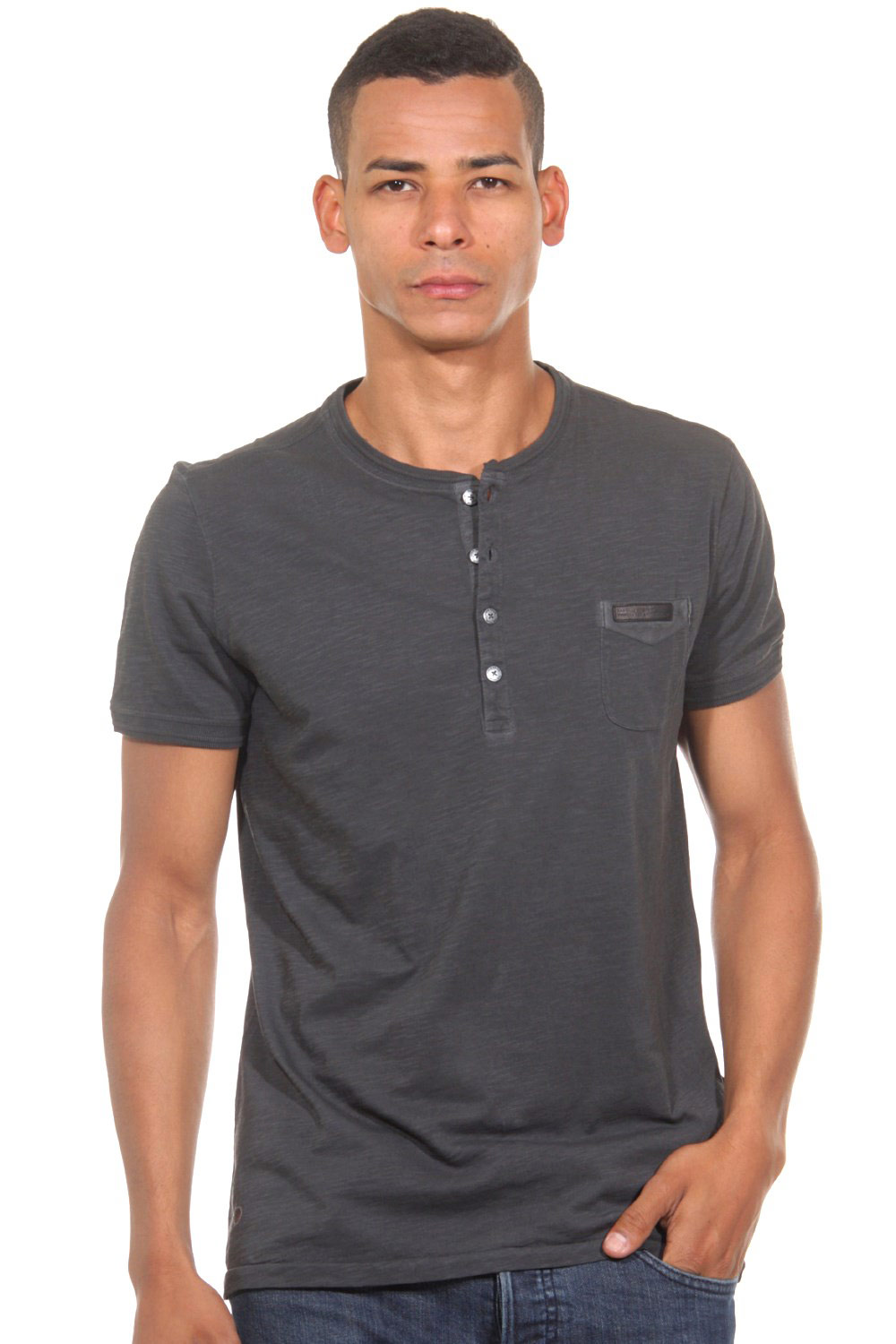 tom tailor polo team henley t shirt slim fit. Black Bedroom Furniture Sets. Home Design Ideas