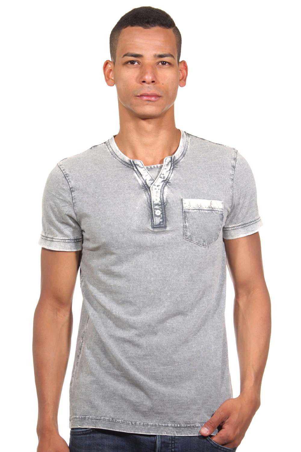 TOM TAILOR CASUAL Henley T-Shirt slim fit auf oboy.de