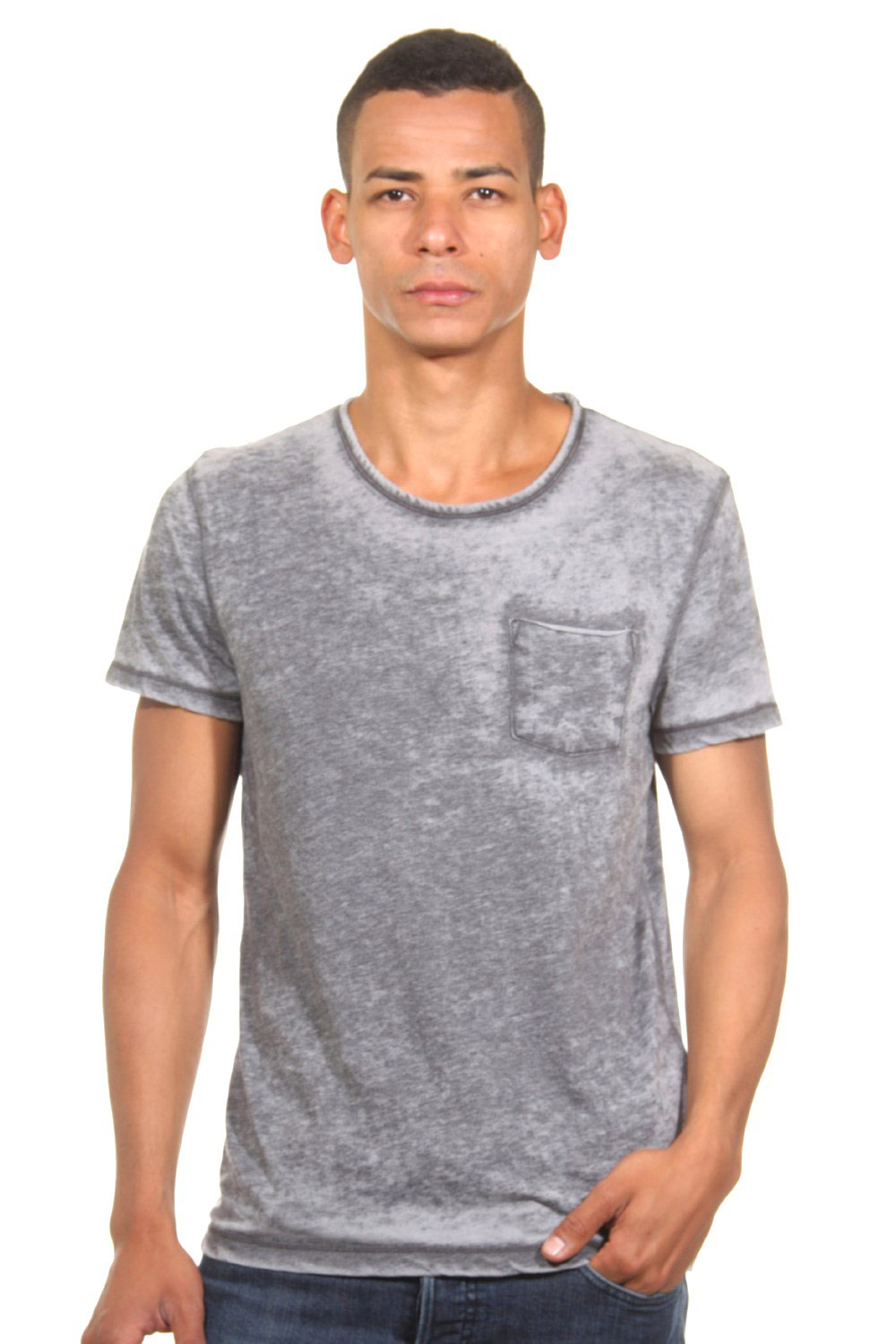 TOM TAILOR CASUAL T-Shirt Rundhals slim fit auf oboy.de