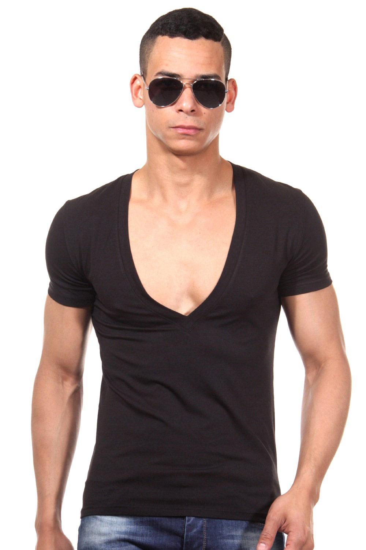 doreanse t shirt v ausschnitt slim fit schwarz dieses t shirt ist mit. Black Bedroom Furniture Sets. Home Design Ideas