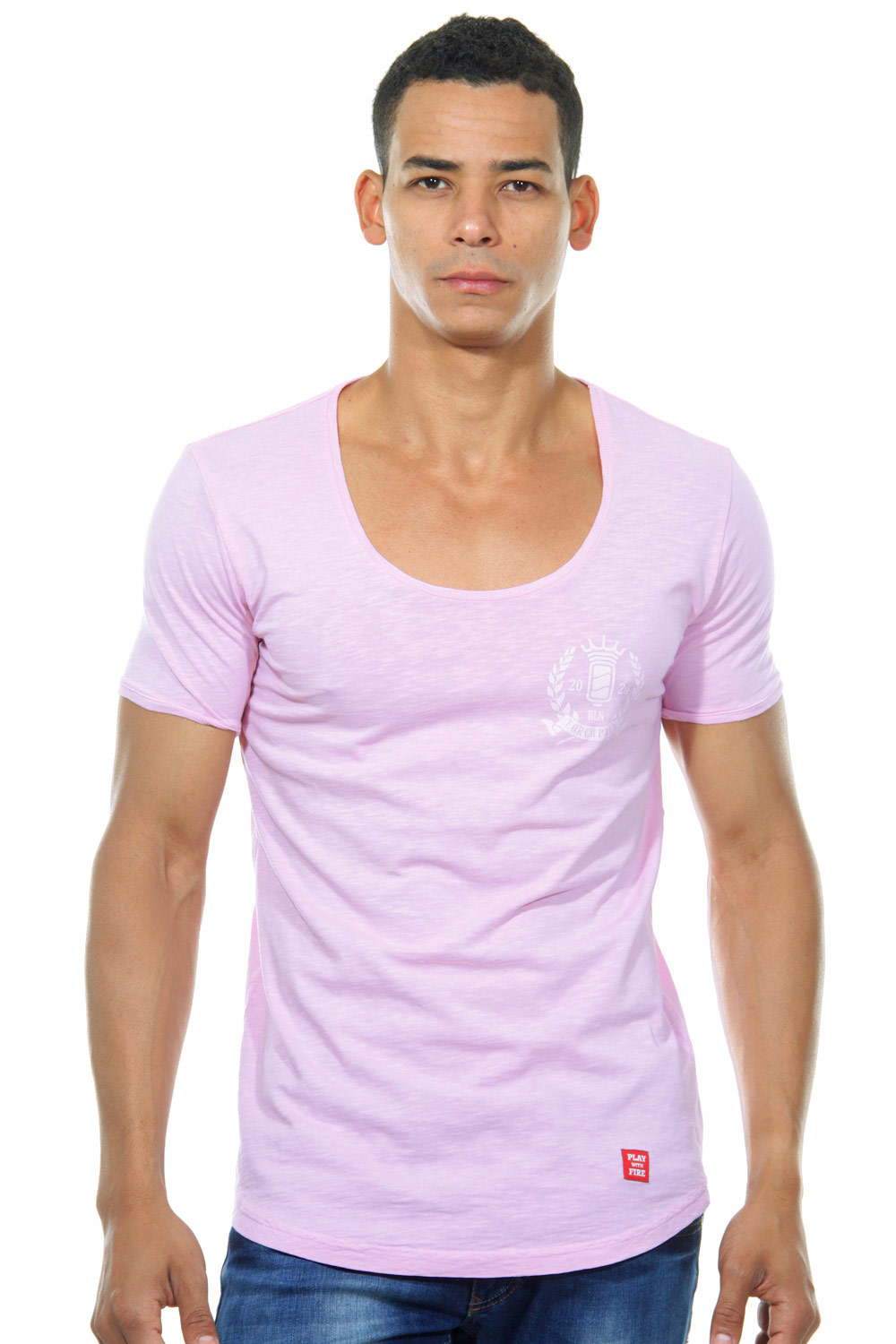 TORCHPACK SEAL U-NECK 4402 T-Shirt Rundhals slim fit auf oboy.de