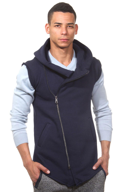 Artikel klicken und genauer betrachten! - navy Diese modische Sweatweste von FIYASKO im Clubwear-Design sorgt für einen ausdrucksstarken Look. - Baumwolle für besten Tragekomfort - regular fit (normale Passform) - Reissverschluss - zwei Eingrifftaschen - Kapuze M aterial: 95% Baumwolle, 5% Polyester FIY002   im Online Shop kaufen