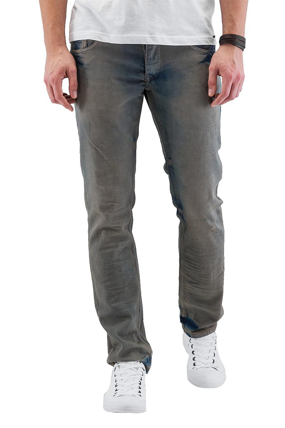 CAZZY CLANG Washed Straight Fit Jeans Blue auf oboy.de