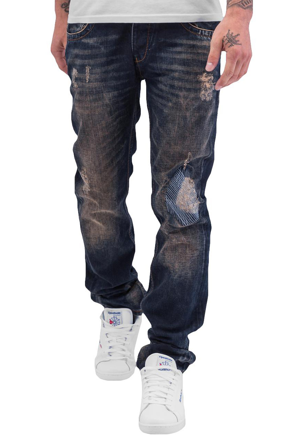 CAZZY CLANG  Shattered Straight Fit Jeans Blue auf oboy.de