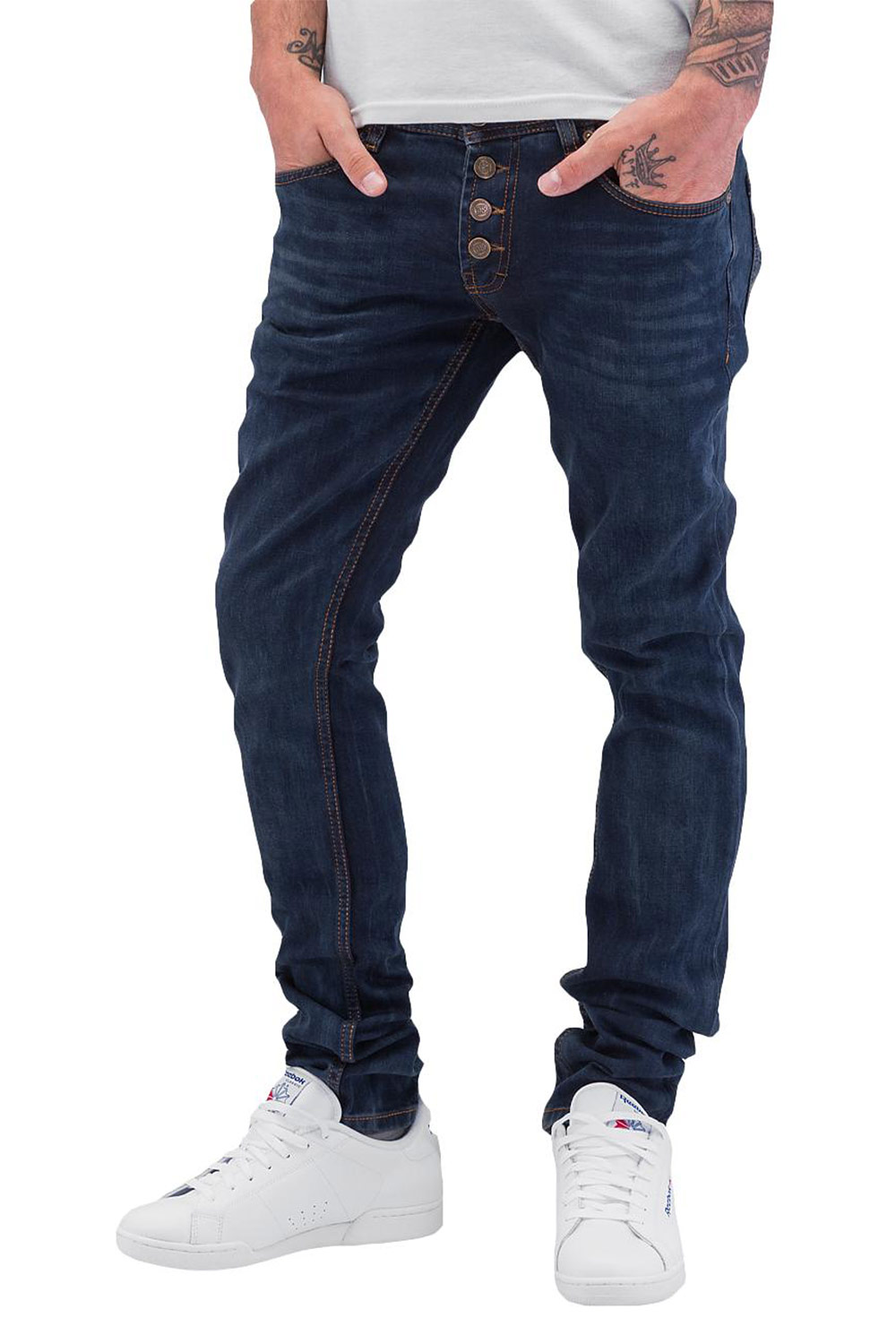 CAZZY CLANG 1976 Straight Fit Jeans Dark Blue auf oboy.de