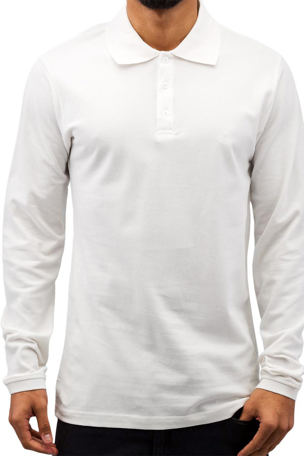 CAZZY CLANG Classic LS Polo Shirt White auf oboy.de