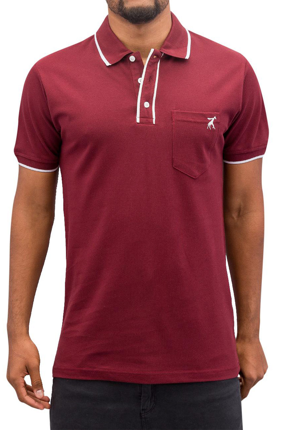 CAZZY CLANG Damp II Polo Shirt Red auf oboy.de
