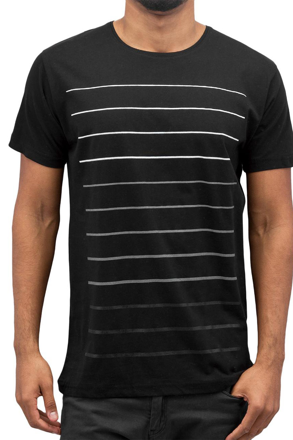 CAZZY CLANG Super Stripes T-Shirt Black auf oboy.de