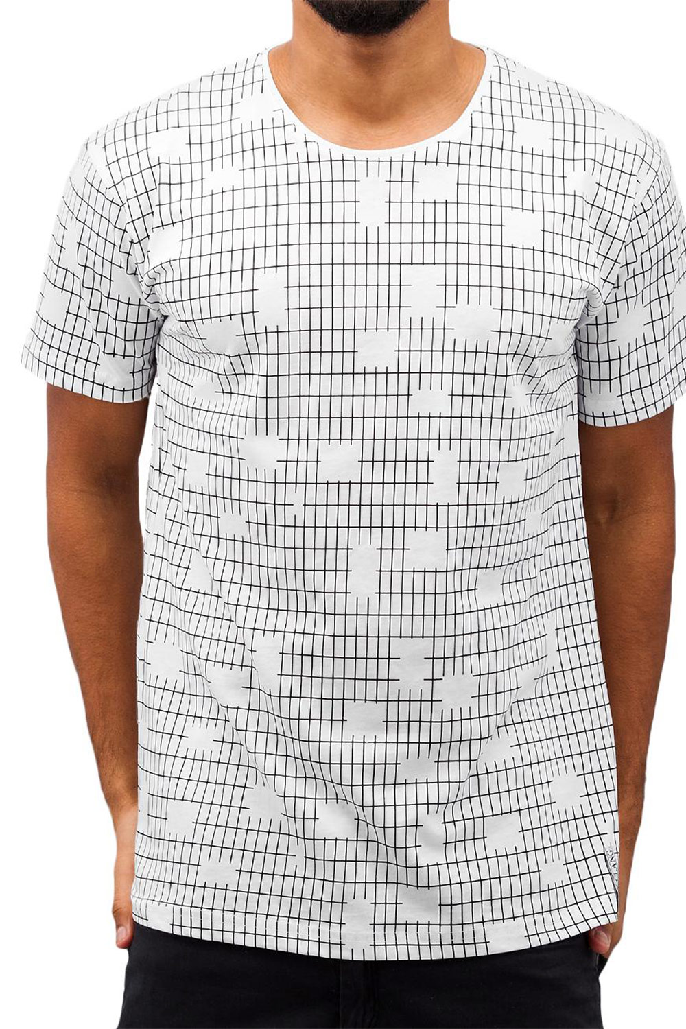 CAZZY CLANG Checked II T-Shirt White auf oboy.de