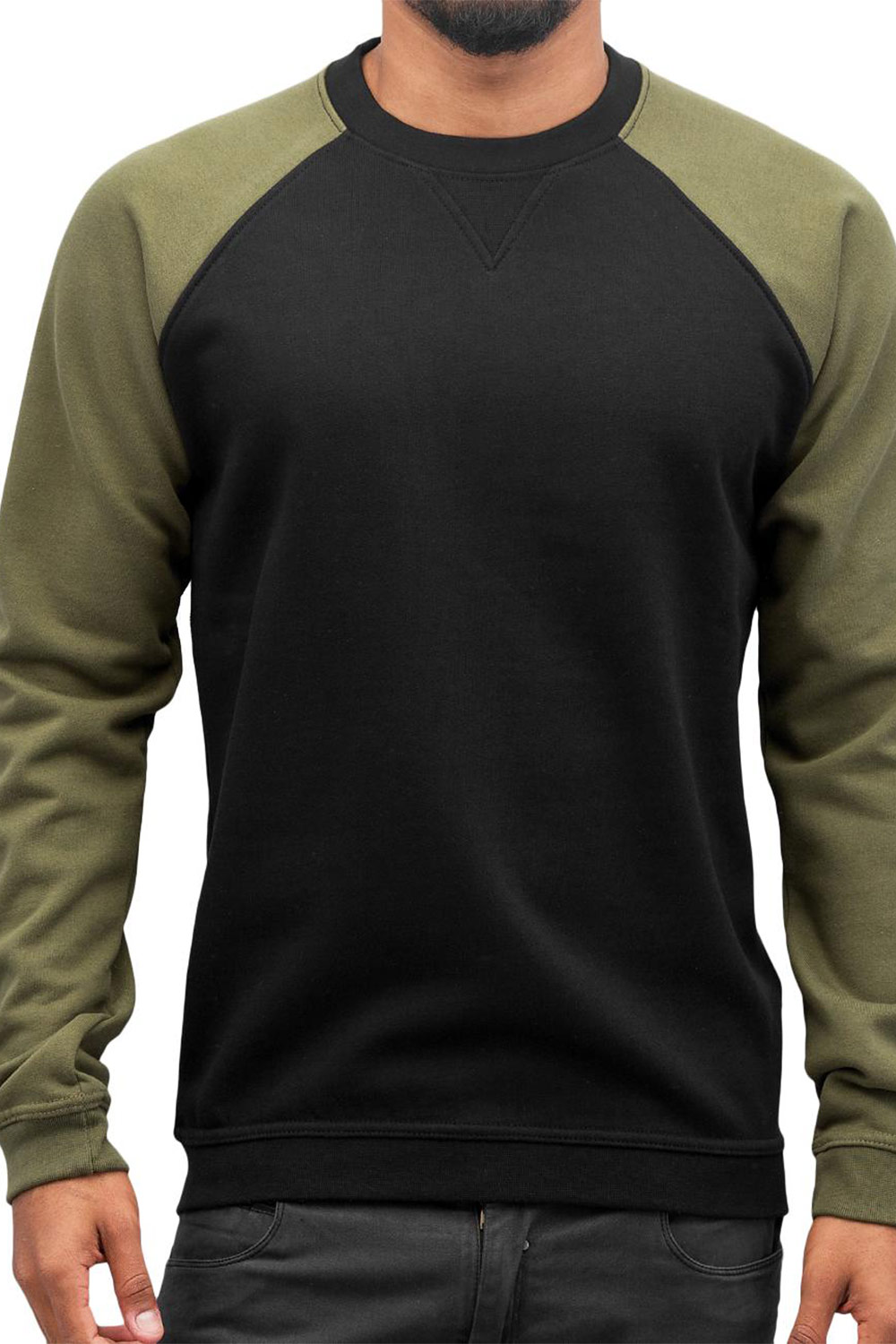 CYPRIME Two Tone Sweater Black/Olive auf oboy.de