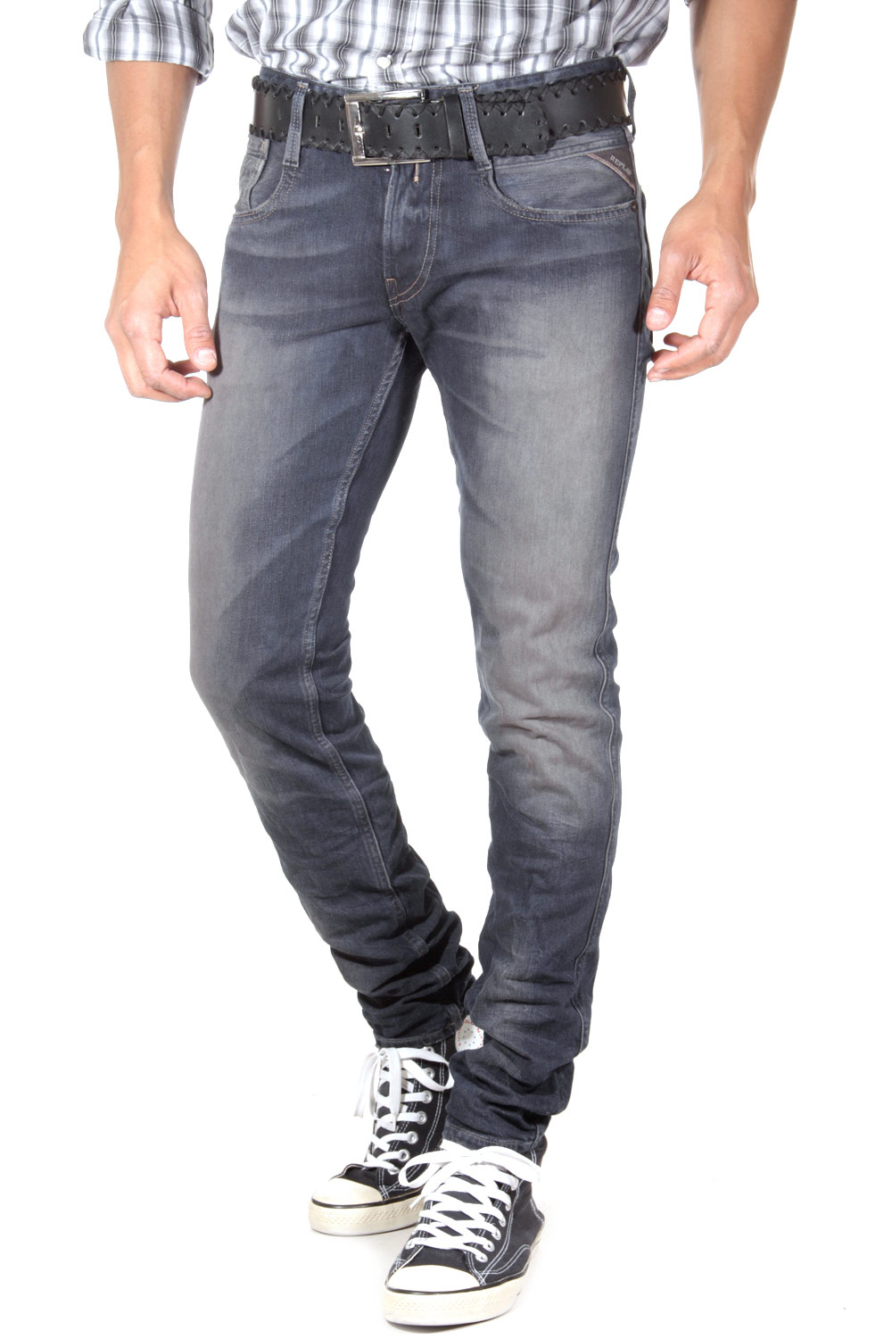 REPLAY ANBASS Stretchjeans slim fit auf oboy.de