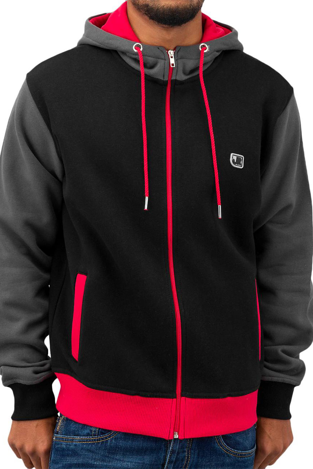 JUST RHYSE Oxid Zip Hoody Black auf oboy.de