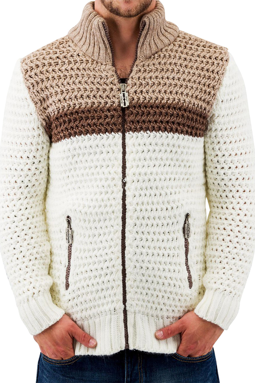 JUST RHYSE And Friends Creco Cardigan Beige auf oboy.de