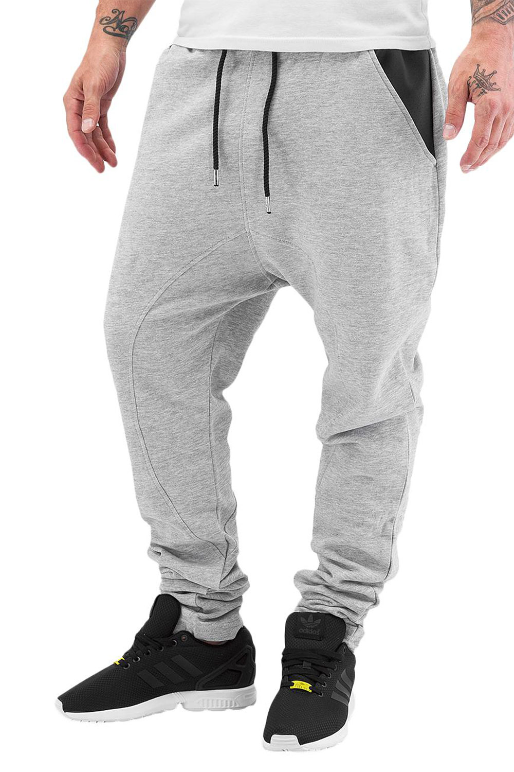 JUST RHYSE PU Pocket Sweat Pants Grey Melange auf oboy.de
