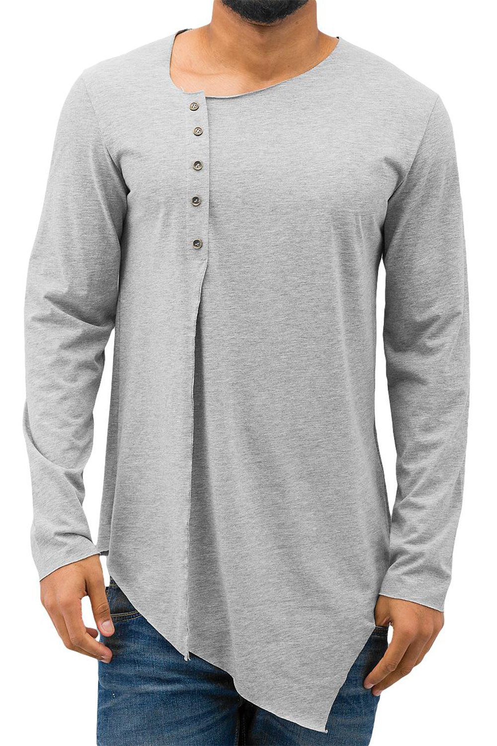 JUST RHYSE Zyon T-Shirt Grey auf oboy.de