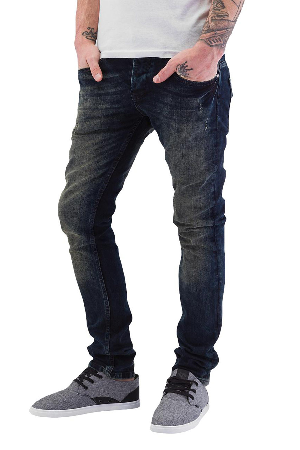 JUST RHYSE Application Skinny Fit Jeans Blue auf oboy.de