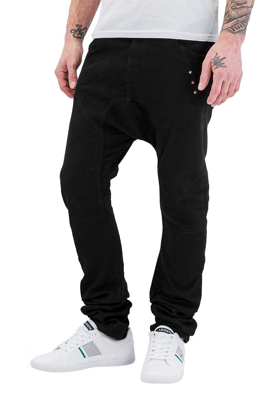JUST RHYSE Three Stars Antifit Jeans Black auf oboy.de