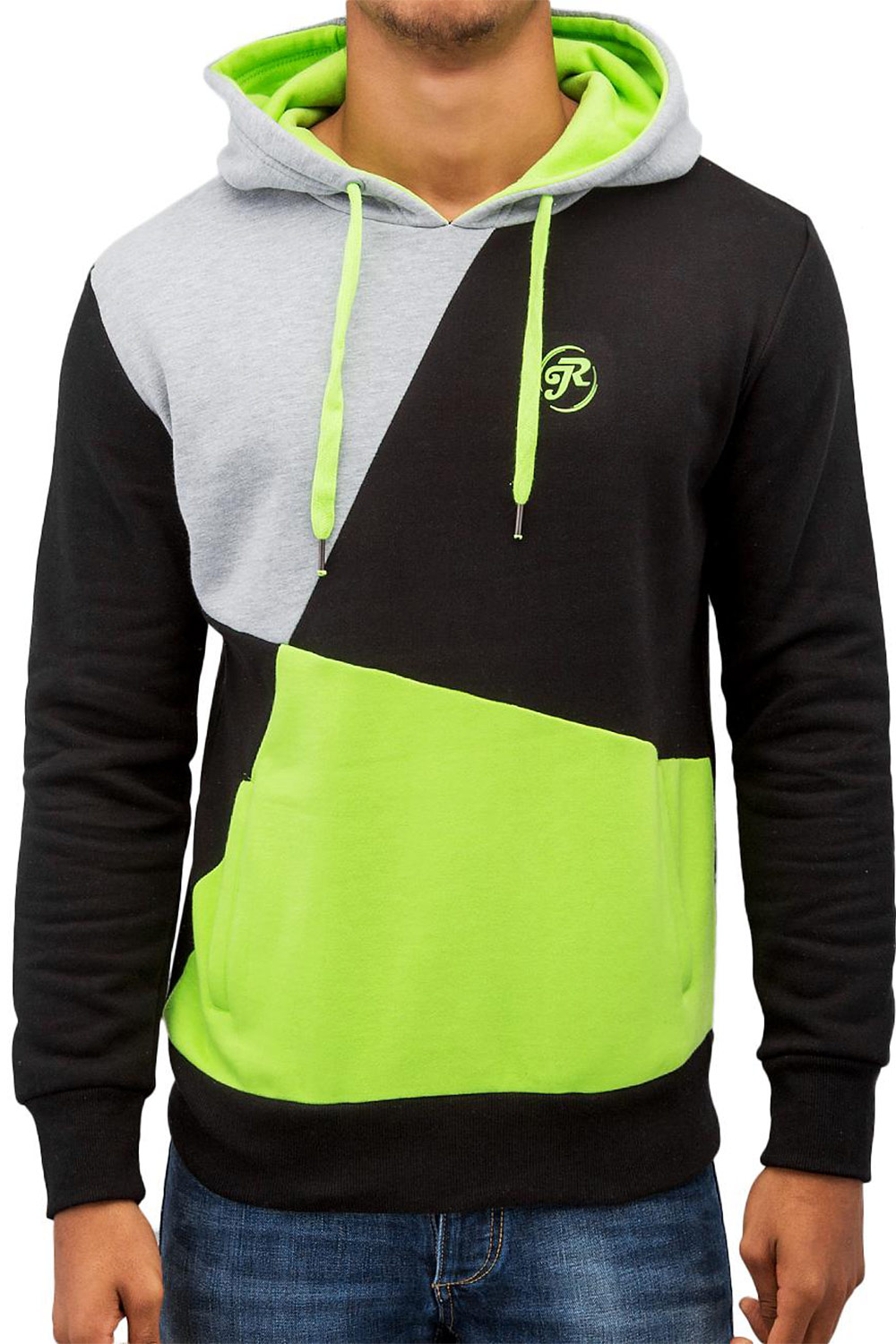 JUST RHYSE Three Tone Hoody Green auf oboy.de