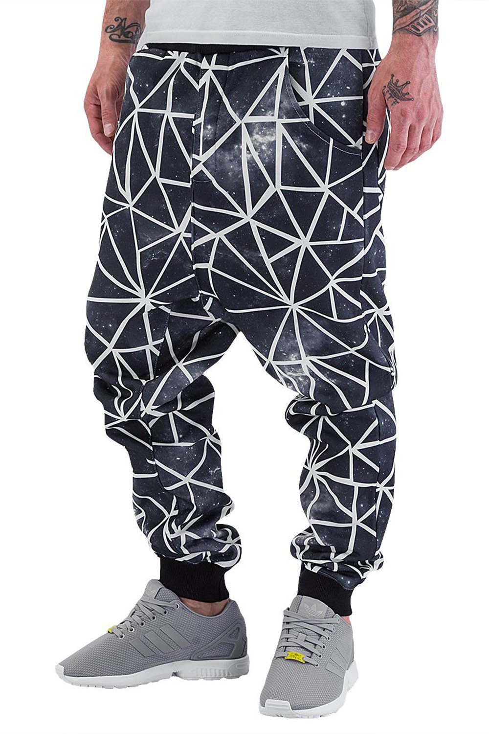 JUST RHYSE Galaxy Stripes Sweat Pants Black auf oboy.de