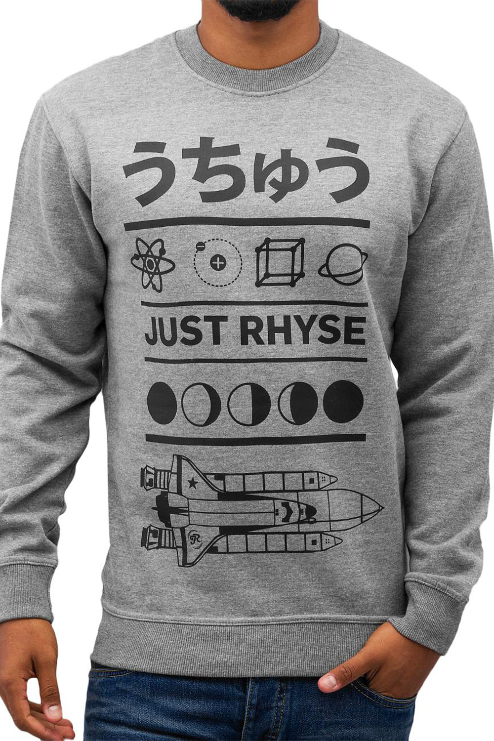 JUST RHYSE Space Sweater Black auf oboy.de