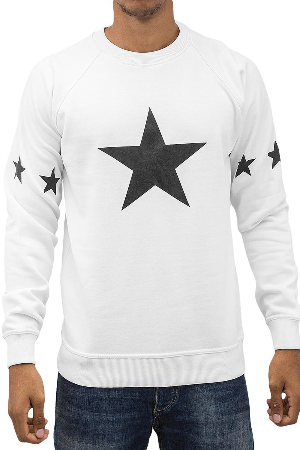 JUST RHYSE Star Sweatshirt White auf oboy.de