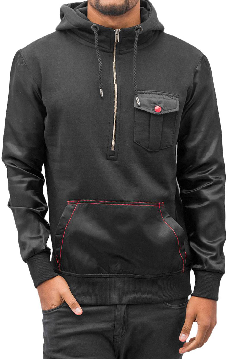 JUST RHYSE Mix Hoody Black auf oboy.de