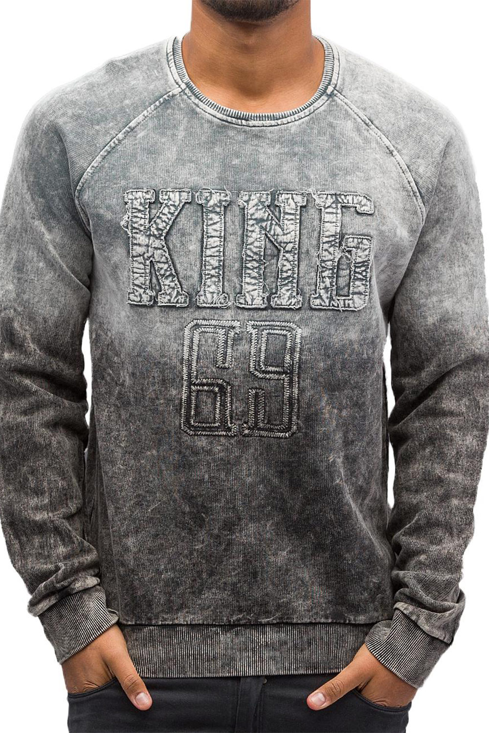 JUST RHYSE King Sweatshirt Grey auf oboy.de