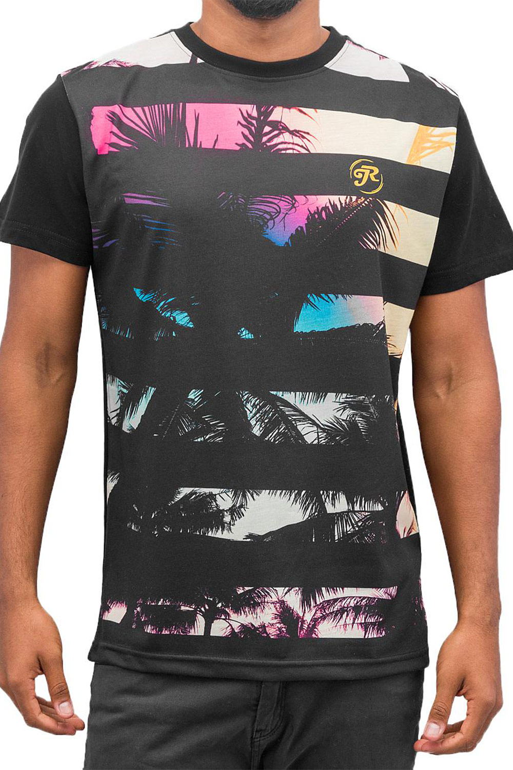 JUST RHYSE Beach II T-Shirt Black auf oboy.de