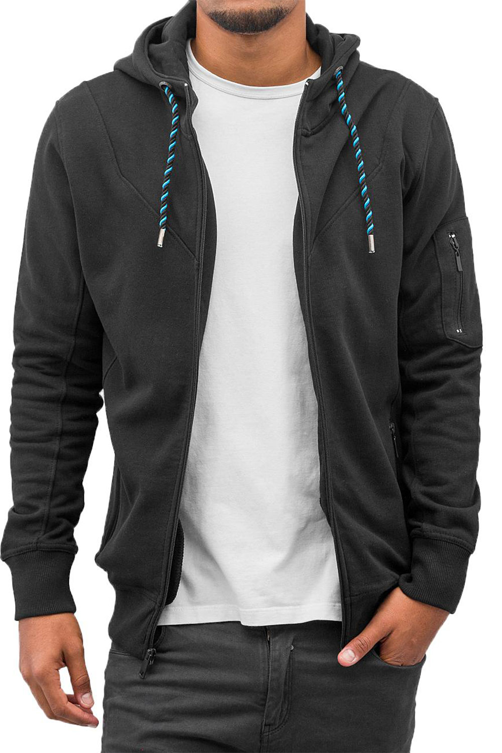 JUST RHYSE World Zip Hoody Black auf oboy.de