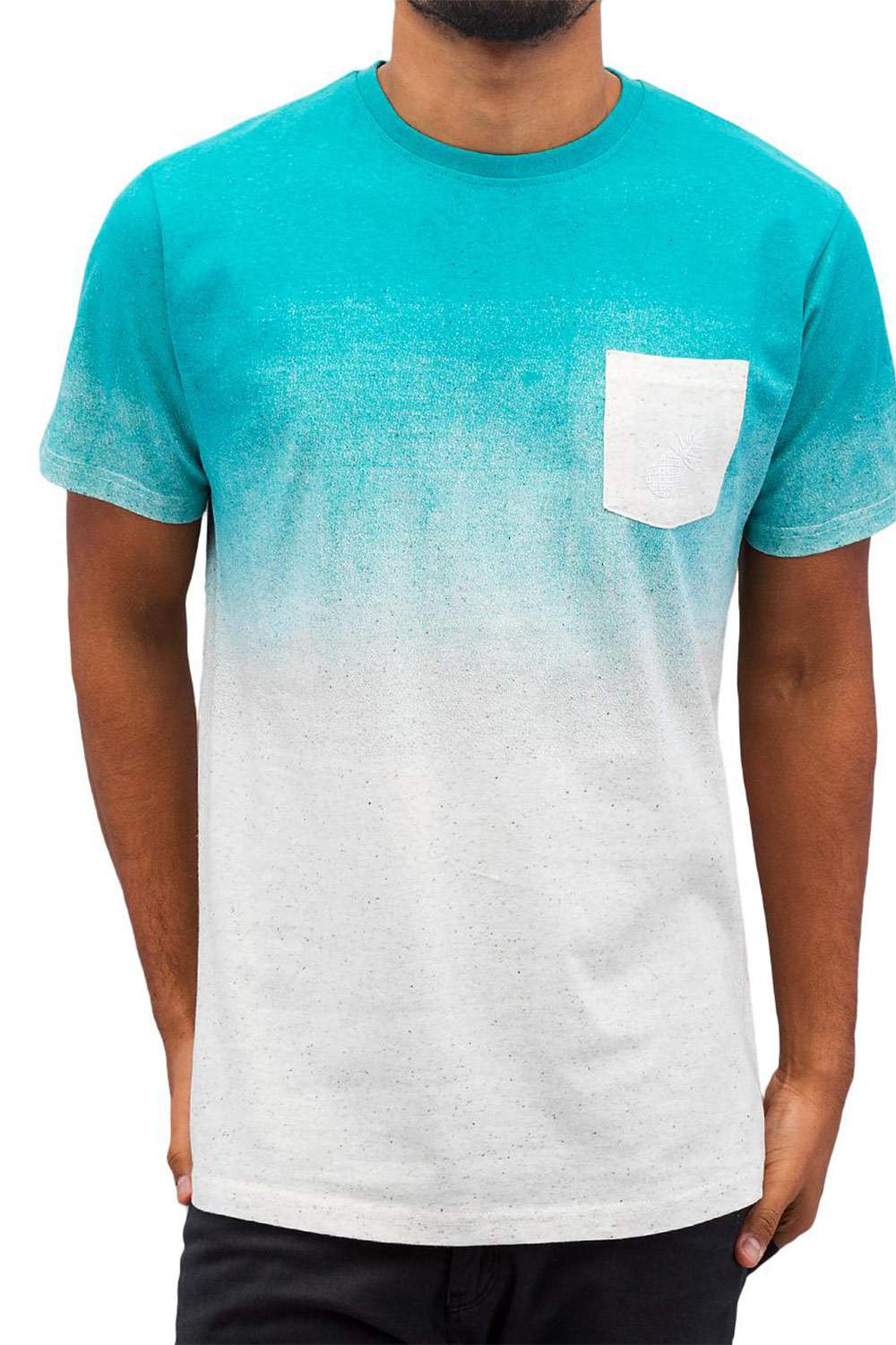 JUST RHYSE Scottie T-Shirt Turquoise/Grey auf oboy.de