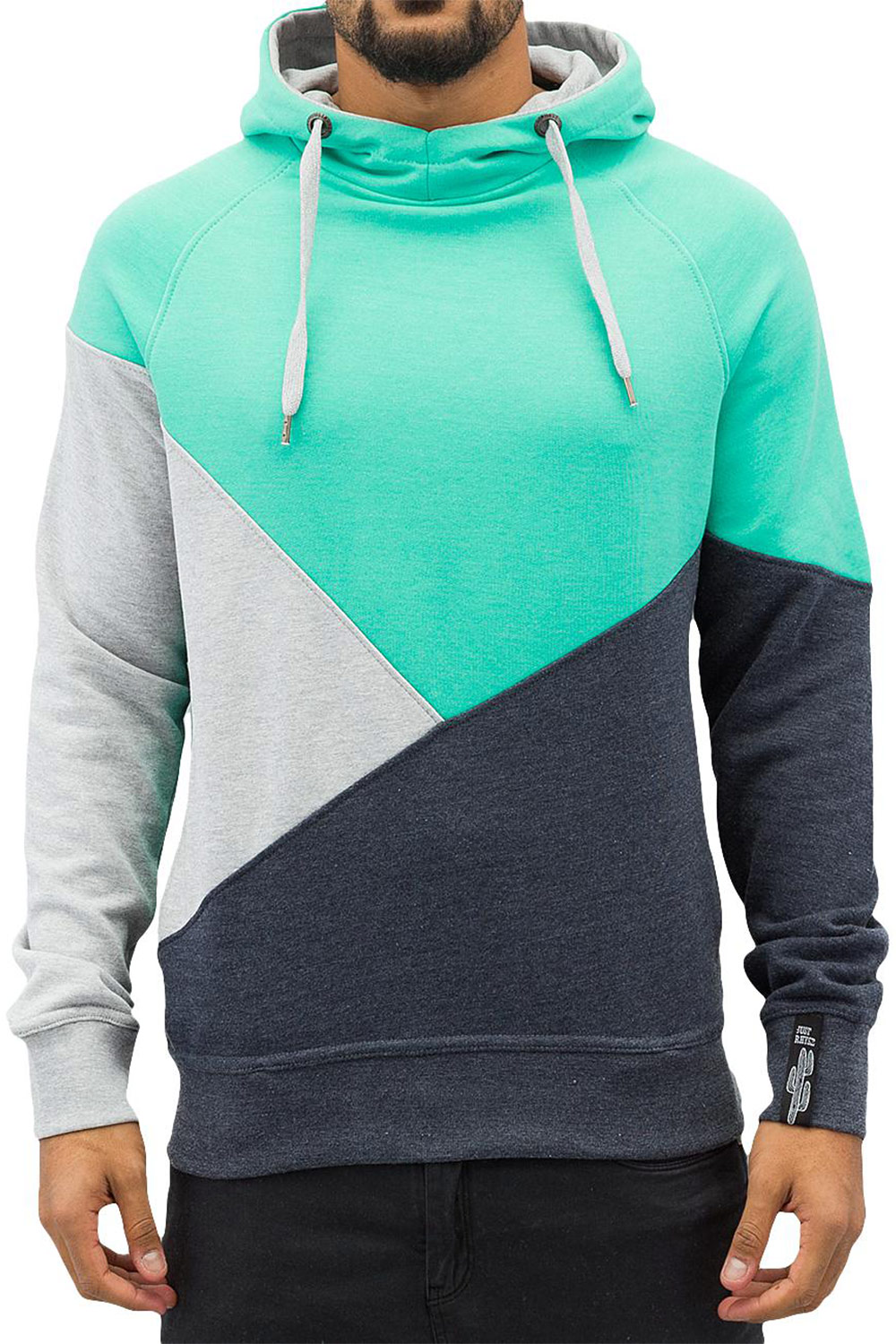 JUST RHYSE 3 Tone Hoody Turquoise auf oboy.de