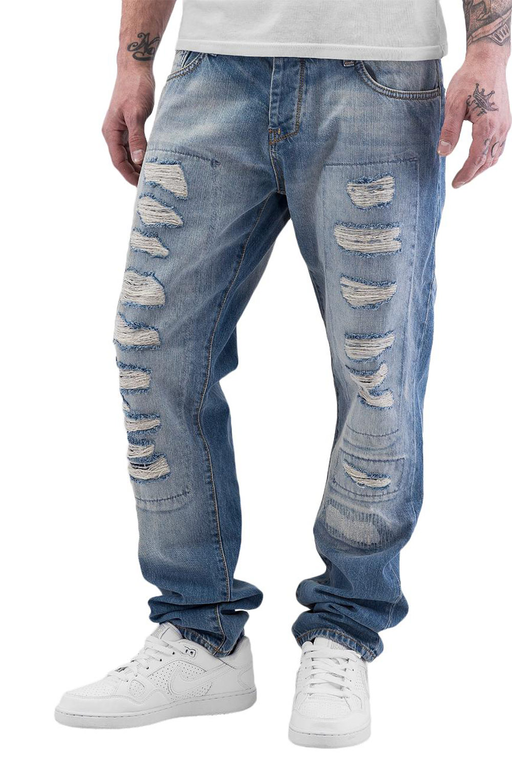 JUST RHYSE Tyrees Straight Fit Jeans Light Blue auf oboy.de