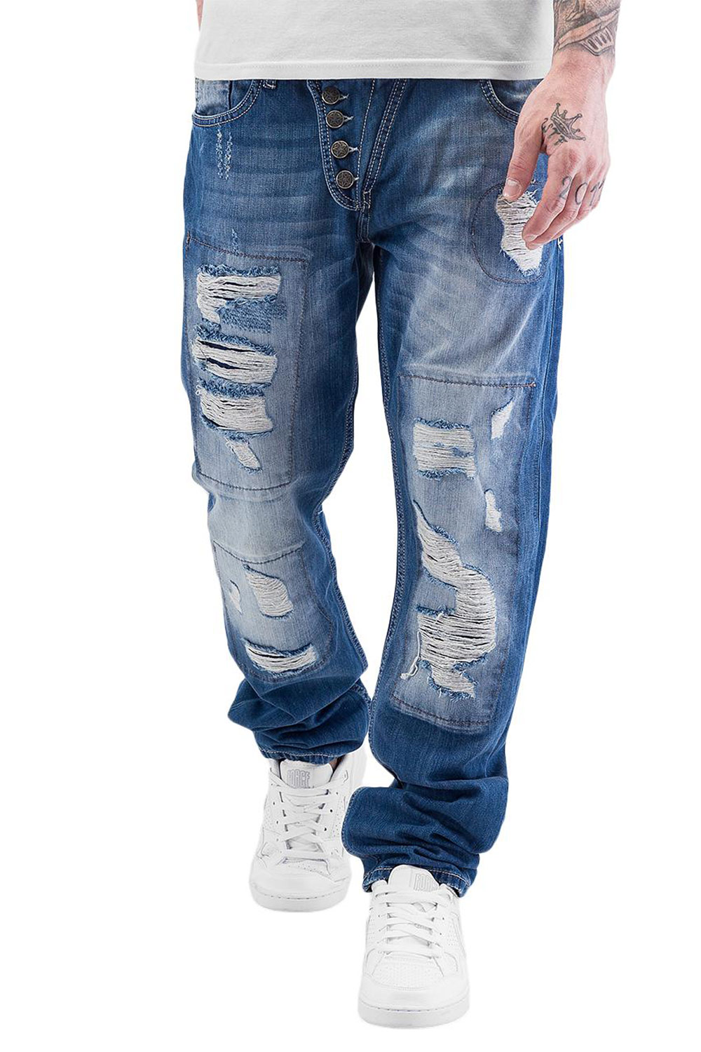 JUST RHYSE Ilay Straight Fit Jeans Blue auf oboy.de