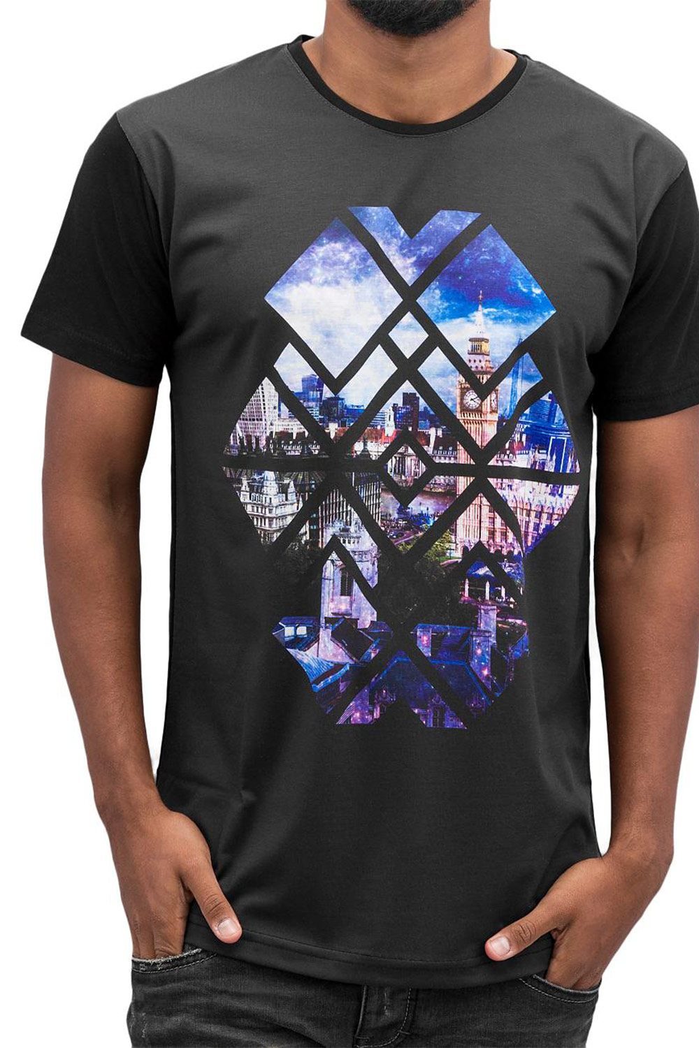 JUST RHYSE Big Ben T-Shirt Black/Blue auf oboy.de