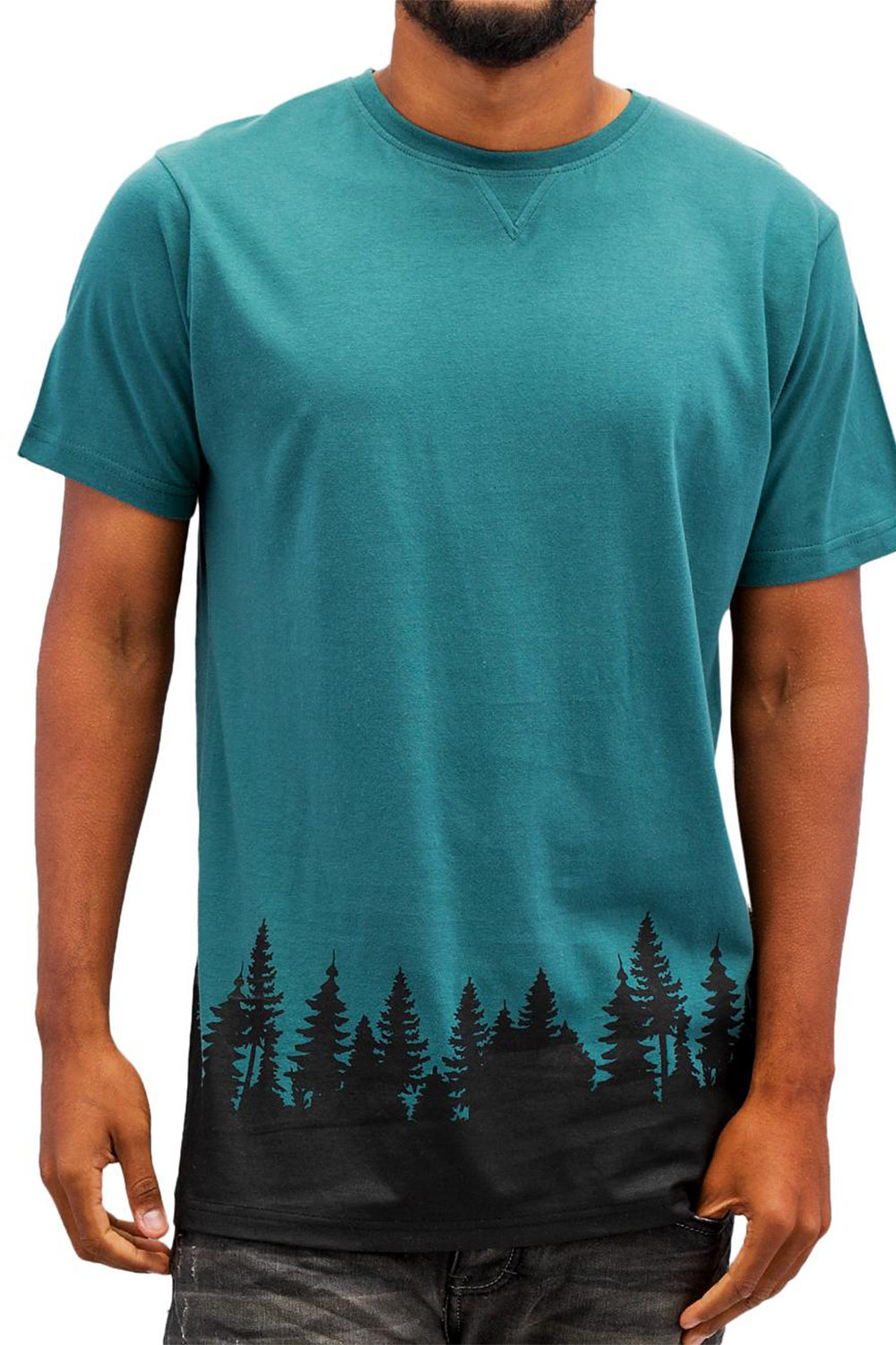 JUST RHYSE Wood T-Shirt Green auf oboy.de