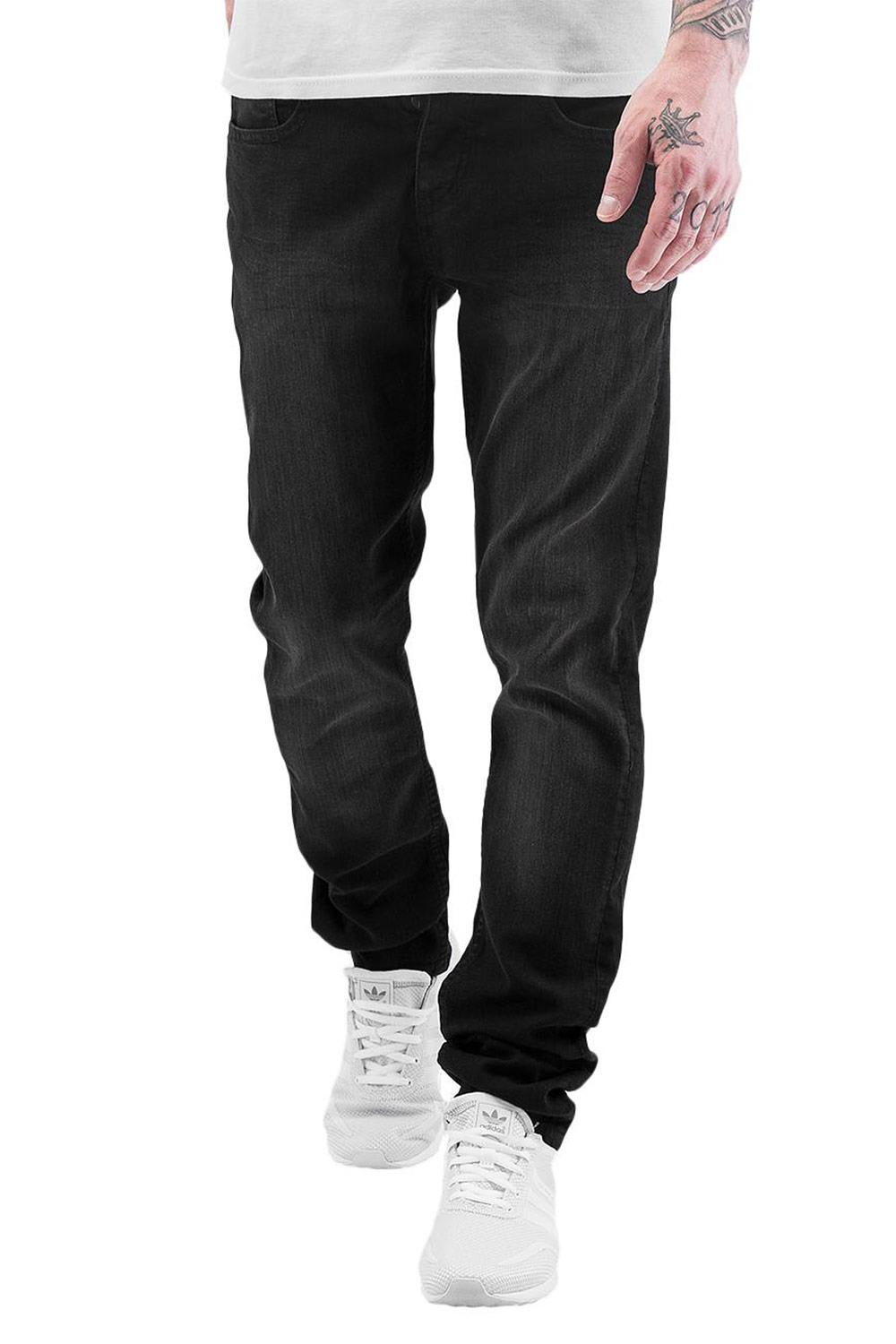 JUST RHYSE Loma Slim Fit Jeans Black Wash auf oboy.de