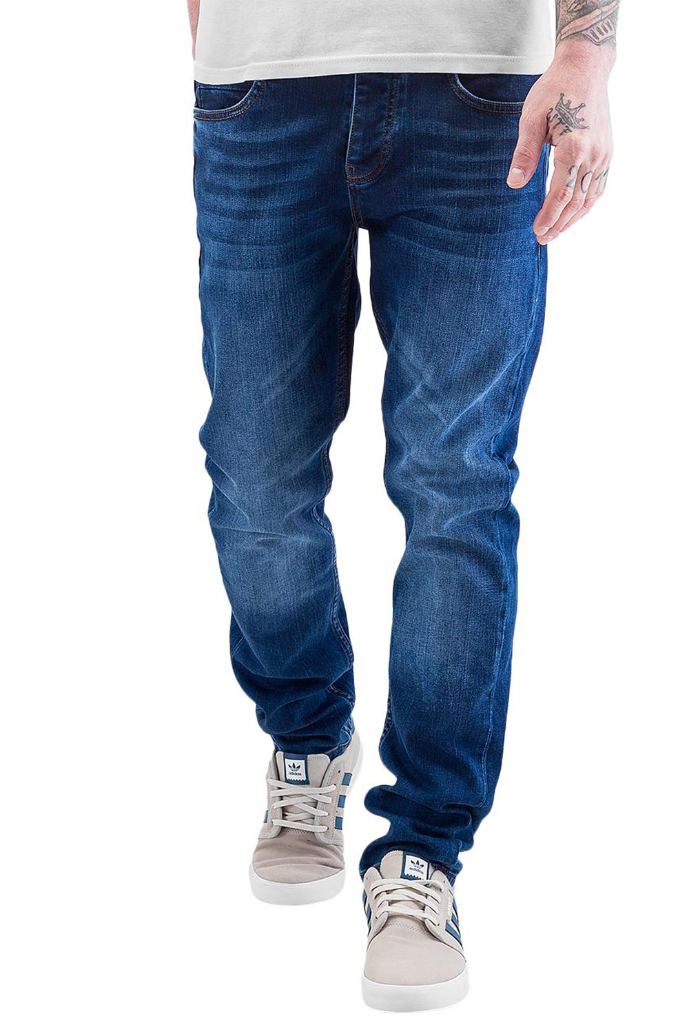JUST RHYSE Slimfit Jeans Blue Wash auf oboy.de