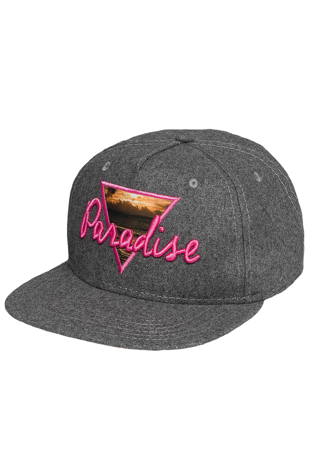 JUST RHYSE Paradise Snapback Cap Light Grey auf oboy.de