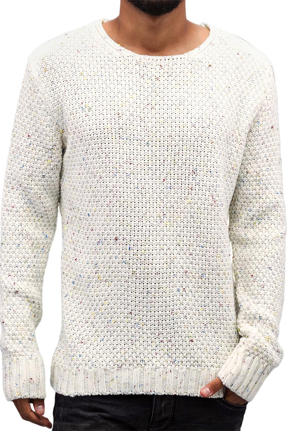 JUST RHYSE Soft Knit Sweatshirt White/Colored auf oboy.de