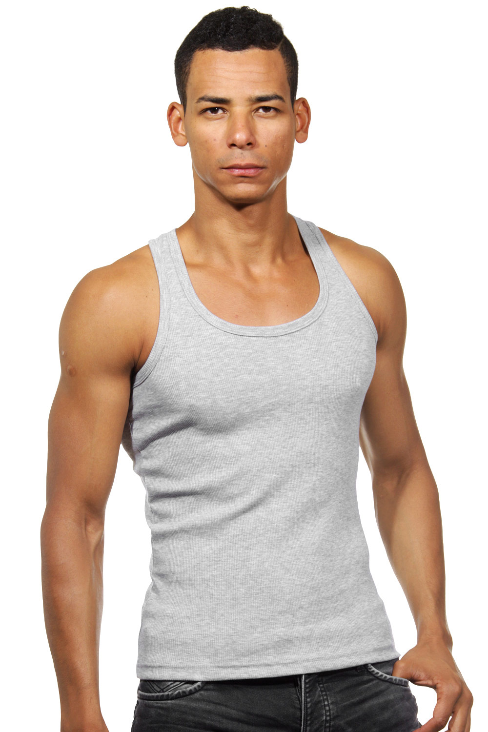 DARKZONE Ripp-Athletikshirt slim fit auf oboy.de