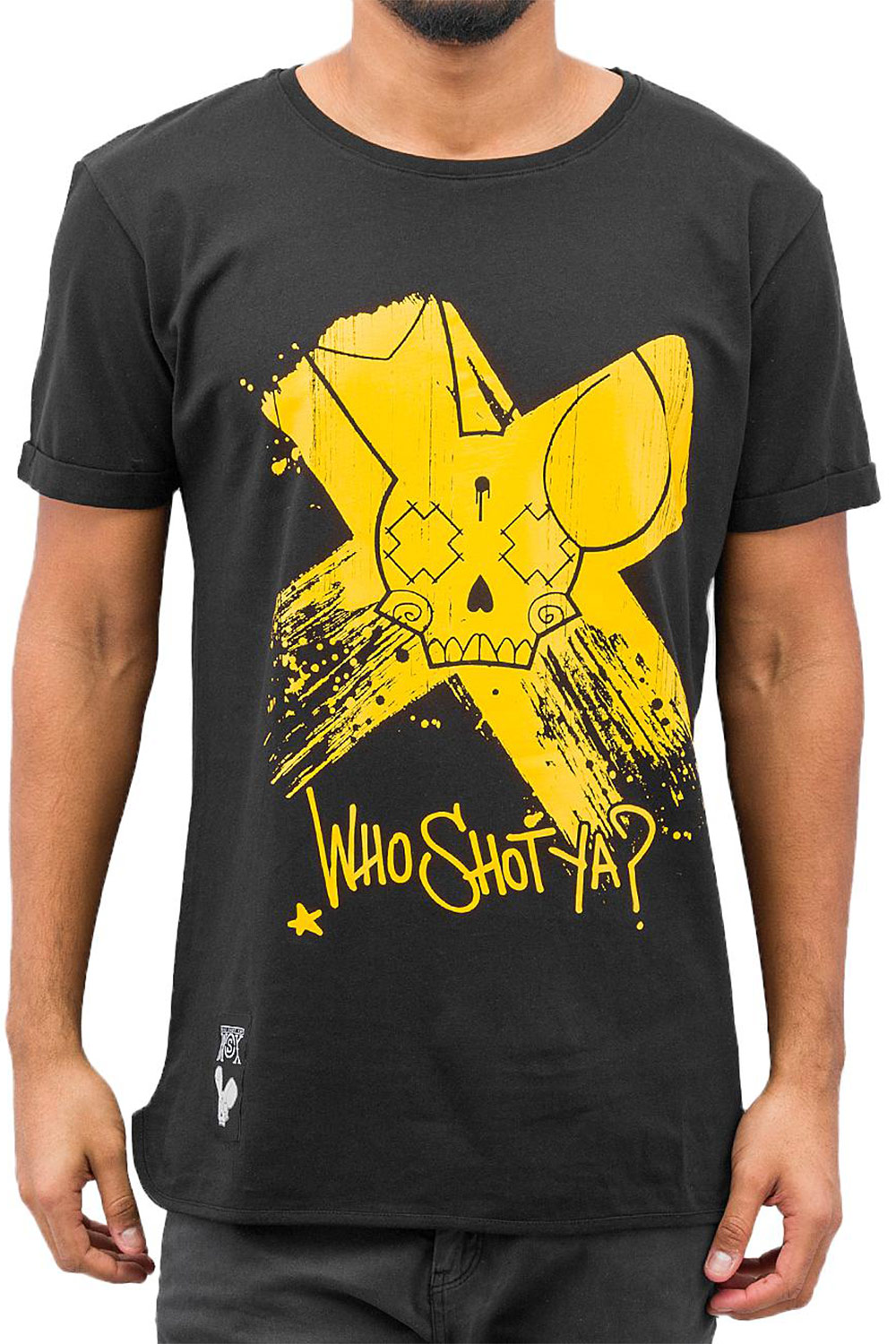WHO SHOT YA? Cross T-Shirt Black auf oboy.de