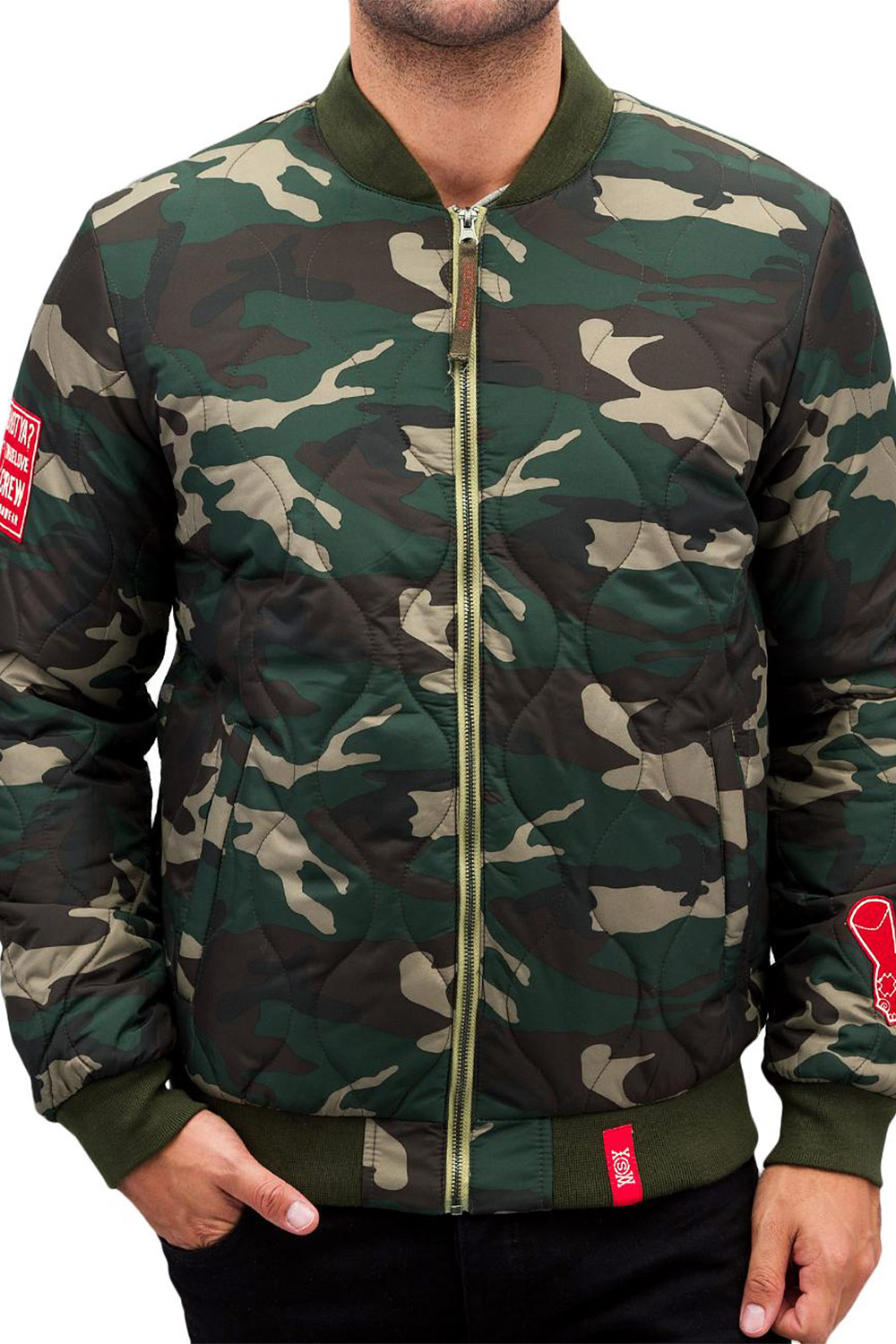 WHO SHOT YA  Camo Jacket auf oboy.de