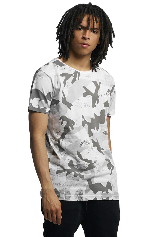 Artikel klicken und genauer betrachten! - weiß - Herren T-Shirt mit Camouflage Muster - Gerippter Rundhalsausschnitt - Großer Logo-Print auf der Rückseite - Leicht dehnbares Material - Normal geschnitten Material: 100% Baumwolle WHOSHOTYA001 | im Online Shop kaufen
