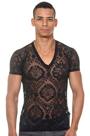 L'HOMME INVISIBLE Imperial T-shirt Col V auf oboy.de