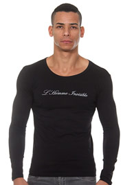 L'HOMME INVISIBLE Fine cotton T-shirt col rond ML auf oboy.de