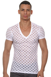 L'HOMME INVISIBLE Nightcall T shirt col V auf oboy.de