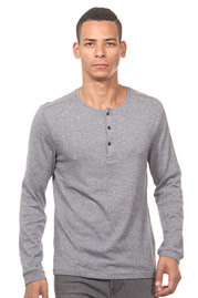 TOM TAILOR Henley Langarmshirt slim fit auf oboy.de