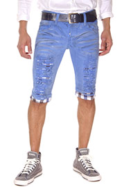 KINGZ Denim Shorts skinny fit auf oboy.de